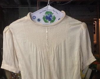 Vintage Cream Color Blouse