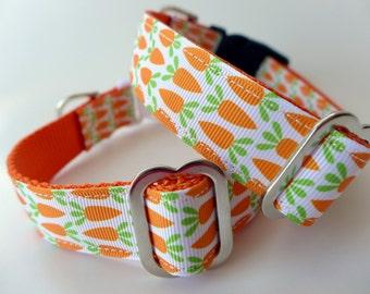 Easter Dog Collar / Bunny Carrots Dog Collar