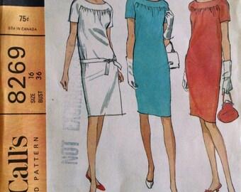 Vintage McCall's Dress Pattern, Size 16