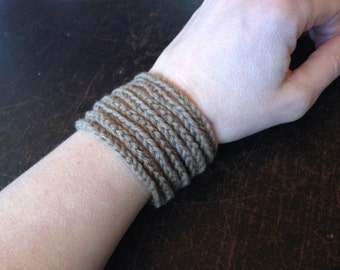 Beige Cotton Bracelet