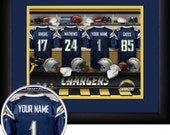 PERSONALIZED & FRAMED NFL San Diego Chargers Sports Print