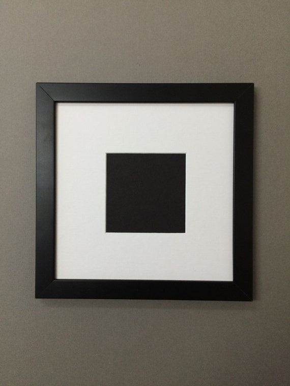Square Black Picture Frame With Mat Over 30 By