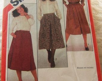 Simplicity 5613 Vintage skirt pattern size 14