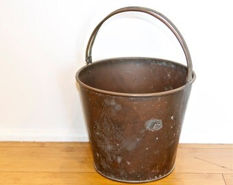 Vintage brass bucket with a Buddha etched in it…Thai Ayutthaya Buddha bucket.