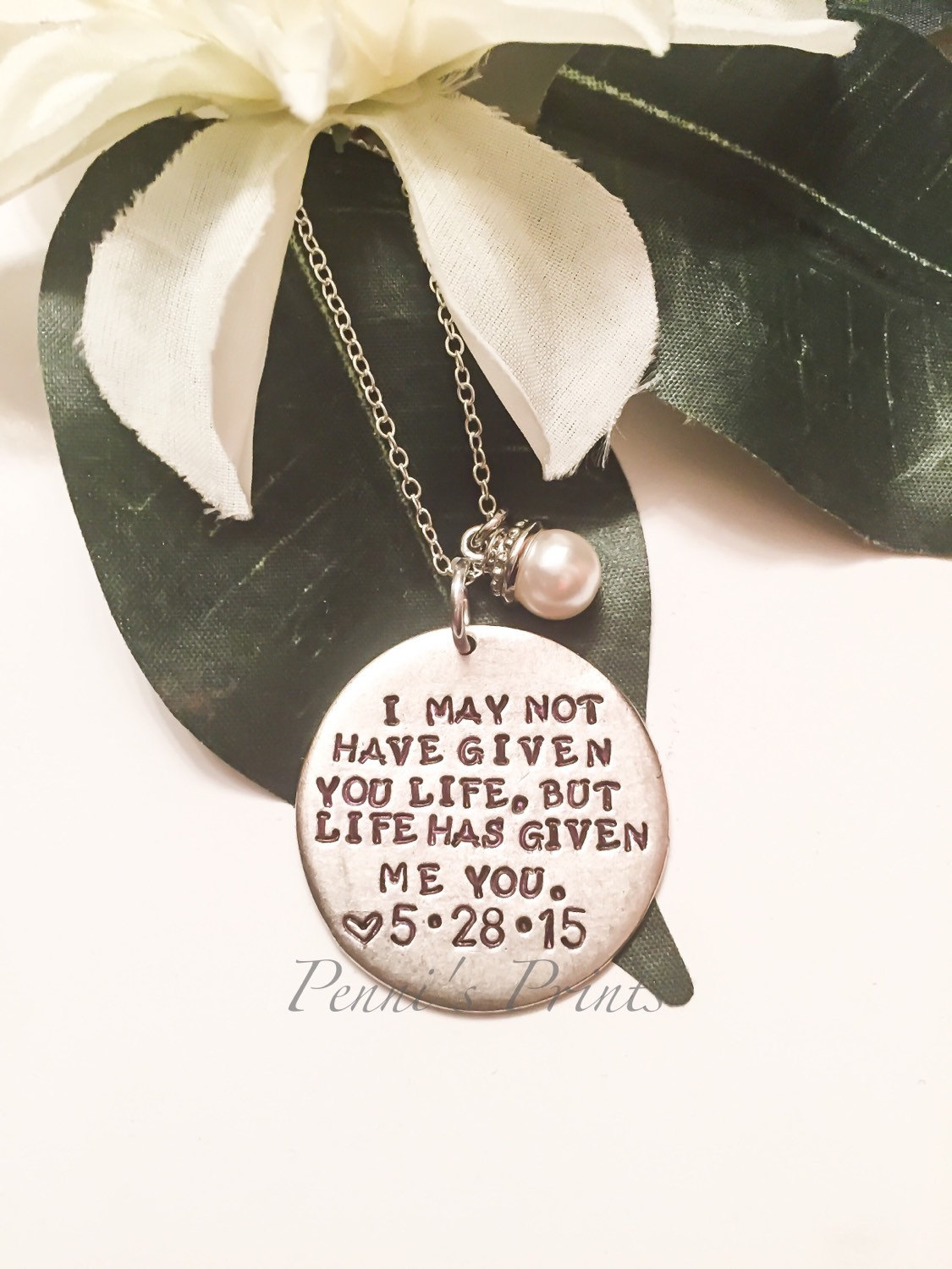 Wedding Gift For Dad And Stepmom : Hand stamped I may not have given you life but life has gven