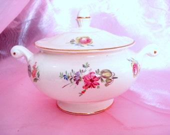 Vintage Sugar Bowl Eggshell Nautilus Household Institute Priscilla Homer Laughlin Cottage Chic Vintage