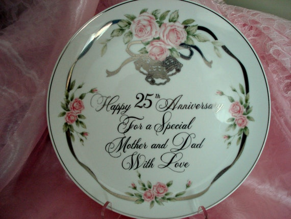 Anniversary Cake Pic For Mom Dad : Items similar to Vintage 25th Anniversary For Mom and Dad ...