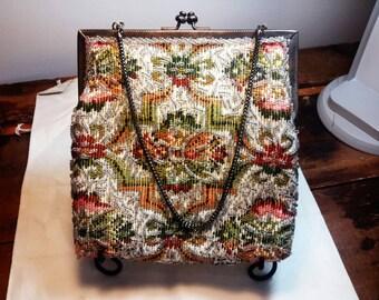 Walborg Beaded Tapestry Purse