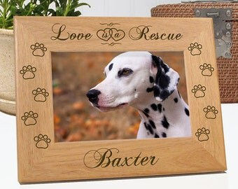 Love Is A Rescue Dog Picture Frame