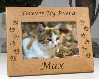 cat memorial frame forever my friend or forever our friend