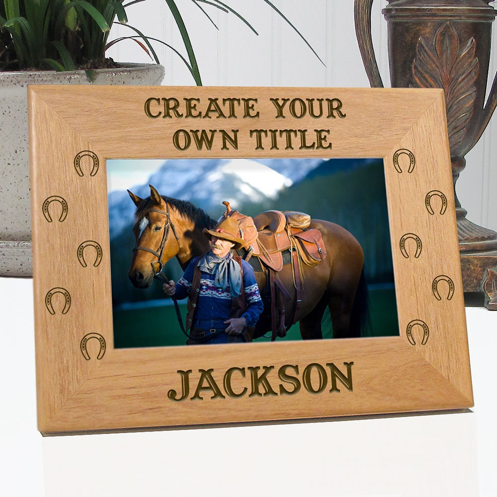Create your own cowboy cowgirl picture frame by for Create your own building