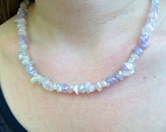 Natural Pale Amethyst Necklace