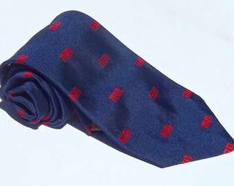 Vintage 1970s Navy Blue Uniform Tie from Maryland National Bank