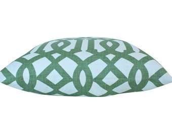 Imperial Trellis Schumacher Pillow Cover in Green