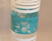 Vintage Turquoise and White Glass