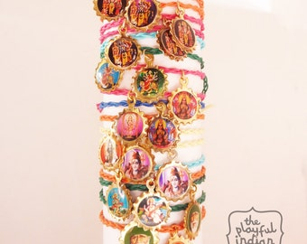 Hindu God Charm Bracelets