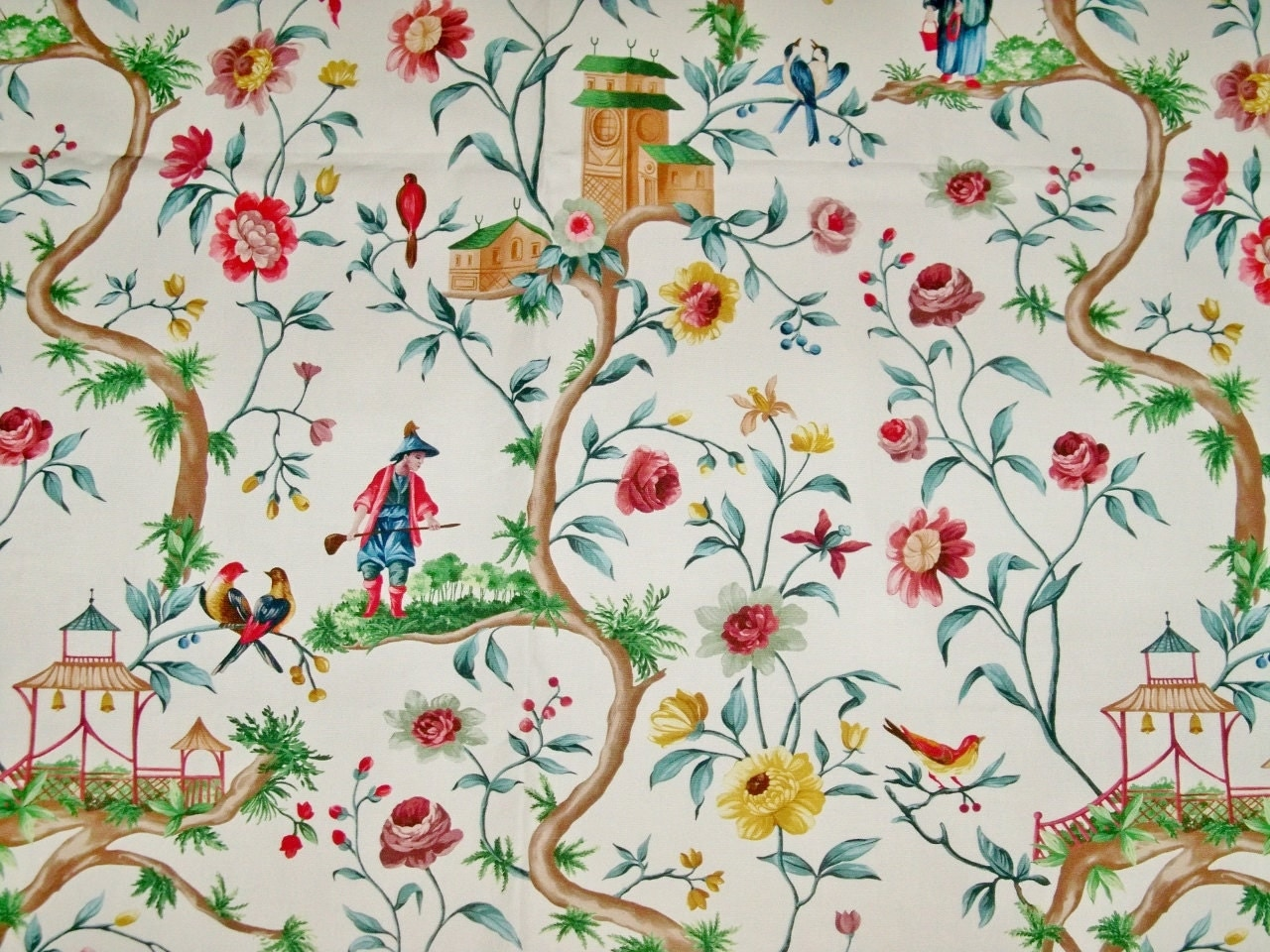Pierre Frey Fabric Of Pierre Frey Chinoiserie Petite Chinon Toile Cotton Fabric 10