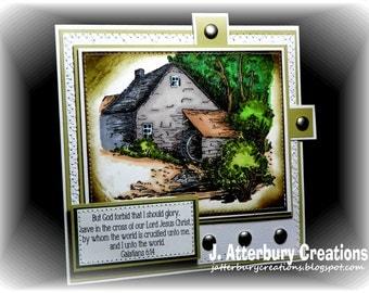 Scripture Card---God Forbid I Should Glory Card + Matching Envelope Box