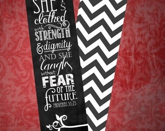 Set of 5 Proverbs 31:25 bookmarks