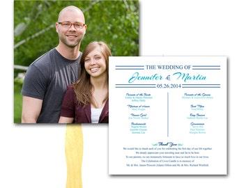Couple's Photo Wedding Program Fan (sample ONLY)