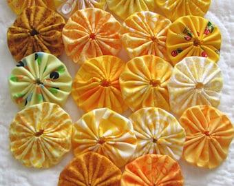 yo yos 30 2 inch Yellow fabric