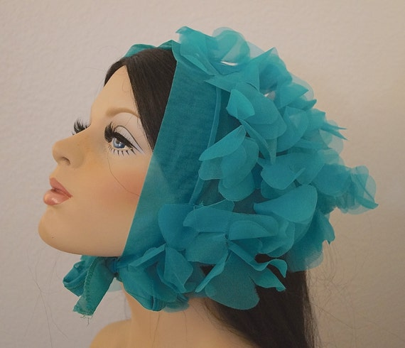 60s Petal Scarf 1960s Flower Petal Scarf Head Scarf Kerchief