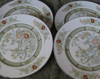 Mikasa Kabuki  Salad plates  Platinum Trim Very good Set of 4 included. Two sets available