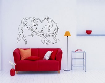 Wall Art inspired by Henri Matisse The Dance vinyl wall decal for your livingroom and bedroom wall art decor (ID: 111051)