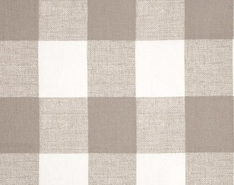 1 yard Anderson Check Ecru Taupe White - Buffalo Checker - Home Decor  - Premier Prints  - Gingham