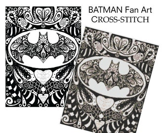 Batman Fan Art Cross Stitch Pattern