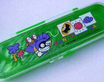 Bat Pencil Case Green Plastic Pencil Box Batman Kids Action Hero 1990s School Supplies