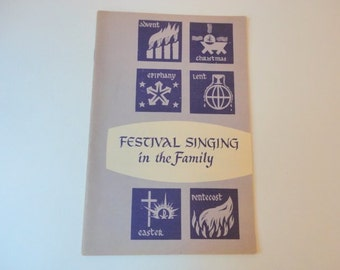 Vintage Song Booklet 1950s Family Christmas Easter Church Paper booklet