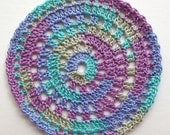 Cyndie Set-2 Multi Color coaster small doily- Clearance priced