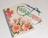 Spiral notebook gift set; bookmark; pen; spiral bound journal; diary; dream journal; Valentine gift; graduation gift; free shipping USA