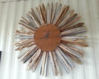 Saguaro Rib Tin Clock