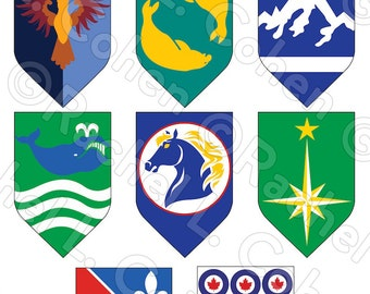 NHL Hockey Former Teams Game of Thrones Inspired Medieval Fantasy Sigil Poster 12x18