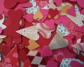 70 Heart Paper Die Cut Valentine Craft Kit DIY Love Punch Shape