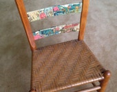 GENE AUTRY Comic Book Art - Vintage Ladder Back Chair - one-of-a-kind Original ART