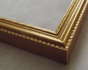 11 x 14 ~ Made to Order Picture Frame ~ Ornate Design ~  Gold Mine Metallic Accent ~ 1/2 inch wide x 3/4 inch tall x 1/2 inch deep