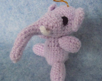 New Handmade Crochet  Elephant. Hand knitted crocheted toy