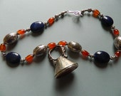 Stunning HEAVY WEIGHTsilver and carnelian  RING on matching necklace