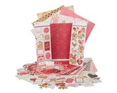 ANNA GRIFFIN - JULIET  CardMaking and ScrapBooking set - 27 Pages and 4 packs of  Embellishments ! VALENTINEs Day SPECiAL !!