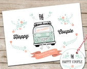Personalised Campervan Wedding Print