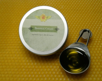 Beeswax Cream with Organic Olive Oil / Handmade Beeswax Cream 1.7 oz (50g)