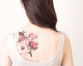 Magnolia Flower Temporary Tattoo, Extra Large tattoo -  perseverance, dignity, love of nature