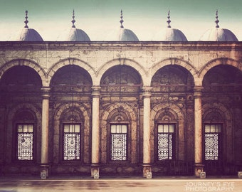 Fine art photography, Egypt photo, architecture, Cairo, Middle Eastern art, Africa, travel print - Courtyard
