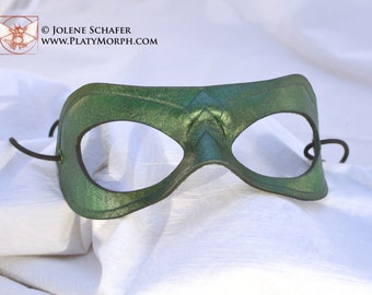 Made To Order Oliver Queen Arrow Inspired Green Leather Super Hero Cosplay Mask