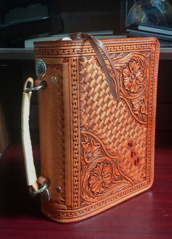 handmade leather bible covers custom tooled leather bible cover with zipper 8155