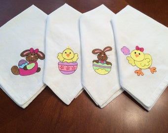 Easter Dinner Napkins Set of 4