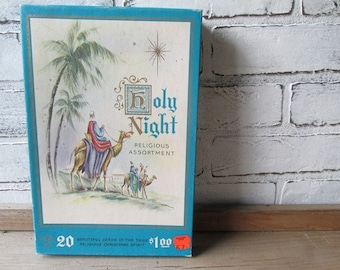 Christmas Cards Vintage Holy Night Religious Assortment 16 cards